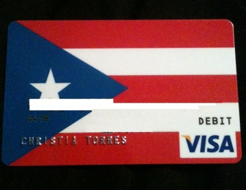Check out my Puerto Rican Flag prepaid Visa! Didn't think I'd leave the number did you? :)
