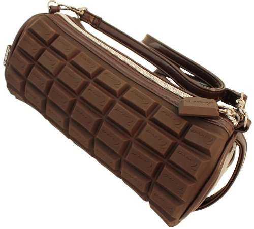 Chocolate scented baguette bag
